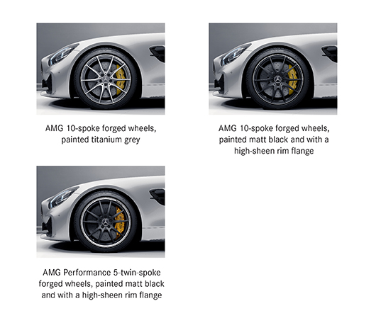 Alloy options for Mercedes AMG GT R