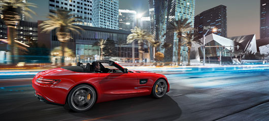 The Mercedes-AMG GT Roadster.