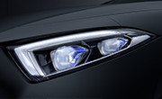Mercedes CLS feature - Multibeam LED headlamps