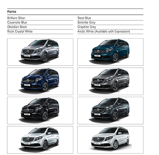 Paint Options for Mercedes Benz V-class